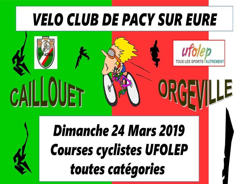 Calendrier Ufolep 2019 Cyclisme.Caillouet Orgeville